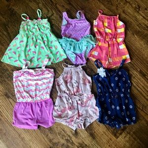 Other - 2T Bundle of Rompers and Swimsuit